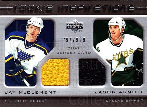 2005-06 Upper Deck Rookie Update #248 Jay McClement, Jason Arnott<br/>1 In Stock - $10.00 each - <a href=https://centericecollectibles.foxycart.com/cart?name=2005-06%20Upper%20Deck%20Rookie%20Update%20%23248%20Jay%20McClement,%20...&quantity_max=1&price=$10.00&code=459668 class=foxycart> Buy it now! </a>