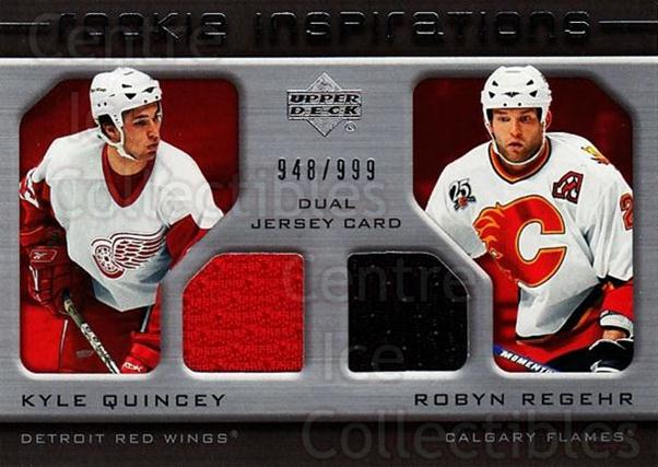 2005-06 Upper Deck Rookie Update #250 Kyle Quincey, Robyn Regehr<br/>1 In Stock - $10.00 each - <a href=https://centericecollectibles.foxycart.com/cart?name=2005-06%20Upper%20Deck%20Rookie%20Update%20%23250%20Kyle%20Quincey,%20R...&quantity_max=1&price=$10.00&code=459670 class=foxycart> Buy it now! </a>