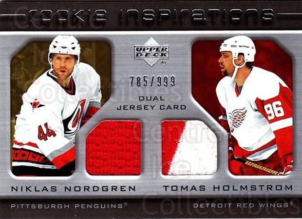 2005-06 Upper Deck Rookie Update #252 Niklas Nordgren, Tomas Holmstrom<br/>1 In Stock - $10.00 each - <a href=https://centericecollectibles.foxycart.com/cart?name=2005-06%20Upper%20Deck%20Rookie%20Update%20%23252%20Niklas%20Nordgren...&quantity_max=1&price=$10.00&code=459672 class=foxycart> Buy it now! </a>