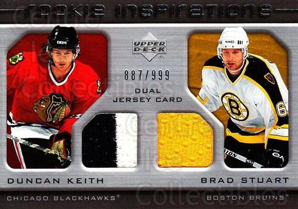 2005-06 Upper Deck Rookie Update #253 Duncan Keith, Brad Stuart<br/>1 In Stock - $25.00 each - <a href=https://centericecollectibles.foxycart.com/cart?name=2005-06%20Upper%20Deck%20Rookie%20Update%20%23253%20Duncan%20Keith,%20B...&quantity_max=1&price=$25.00&code=459673 class=foxycart> Buy it now! </a>