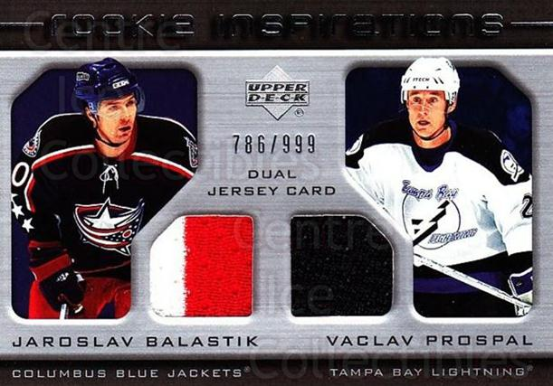 2005-06 Upper Deck Rookie Update #254 Jaroslav Balastik, Vaclav Prospal<br/>1 In Stock - $10.00 each - <a href=https://centericecollectibles.foxycart.com/cart?name=2005-06%20Upper%20Deck%20Rookie%20Update%20%23254%20Jaroslav%20Balast...&quantity_max=1&price=$10.00&code=459674 class=foxycart> Buy it now! </a>