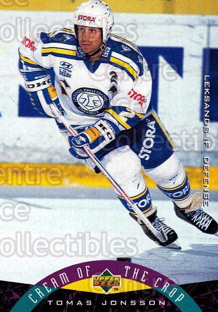 1995-96 Swedish Upper Deck #255 Tomas Jonsson<br/>10 In Stock - $2.00 each - <a href=https://centericecollectibles.foxycart.com/cart?name=1995-96%20Swedish%20Upper%20Deck%20%23255%20Tomas%20Jonsson...&quantity_max=10&price=$2.00&code=46016 class=foxycart> Buy it now! </a>