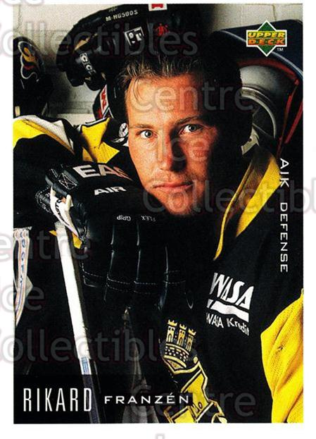 1995-96 Swedish Upper Deck #4 Rikard Franzen<br/>8 In Stock - $2.00 each - <a href=https://centericecollectibles.foxycart.com/cart?name=1995-96%20Swedish%20Upper%20Deck%20%234%20Rikard%20Franzen...&quantity_max=8&price=$2.00&code=46023 class=foxycart> Buy it now! </a>