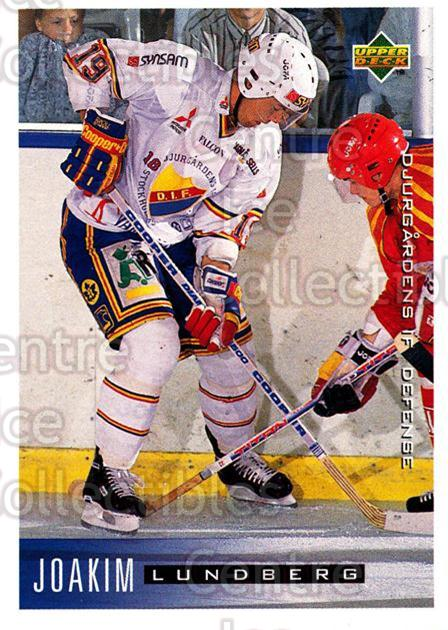 1995-96 Swedish Upper Deck #41 Joakim Lundberg<br/>11 In Stock - $2.00 each - <a href=https://centericecollectibles.foxycart.com/cart?name=1995-96%20Swedish%20Upper%20Deck%20%2341%20Joakim%20Lundberg...&price=$2.00&code=46024 class=foxycart> Buy it now! </a>