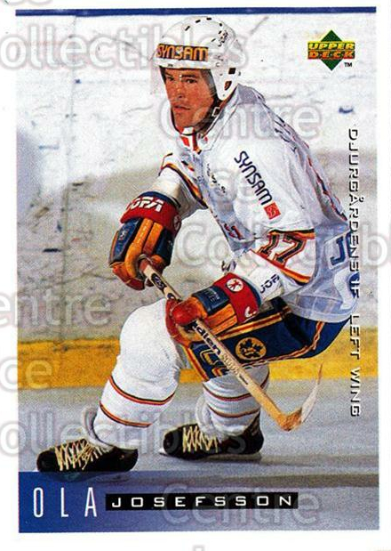 1995-96 Swedish Upper Deck #49 Ola Josefsson<br/>10 In Stock - $2.00 each - <a href=https://centericecollectibles.foxycart.com/cart?name=1995-96%20Swedish%20Upper%20Deck%20%2349%20Ola%20Josefsson...&price=$2.00&code=46027 class=foxycart> Buy it now! </a>