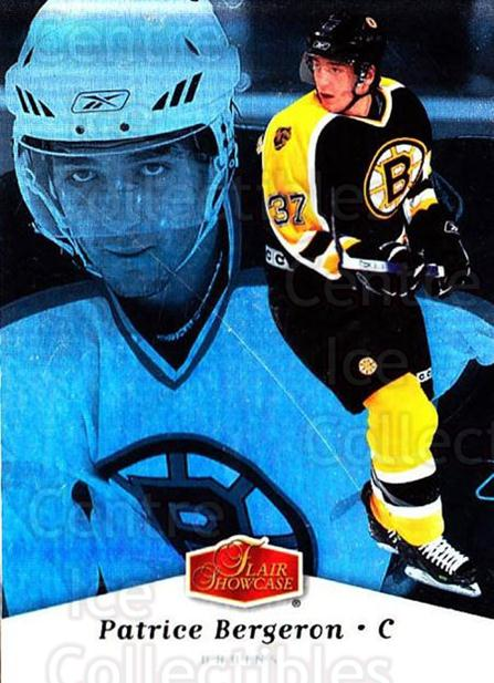 2006-07 Flair Showcase #9 Patrice Bergeron<br/>4 In Stock - $2.00 each - <a href=https://centericecollectibles.foxycart.com/cart?name=2006-07%20Flair%20Showcase%20%239%20Patrice%20Bergero...&quantity_max=4&price=$2.00&code=460316 class=foxycart> Buy it now! </a>