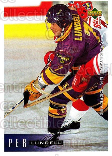 1995-96 Swedish Upper Deck #59 Per Lundell<br/>10 In Stock - $2.00 each - <a href=https://centericecollectibles.foxycart.com/cart?name=1995-96%20Swedish%20Upper%20Deck%20%2359%20Per%20Lundell...&quantity_max=10&price=$2.00&code=46031 class=foxycart> Buy it now! </a>