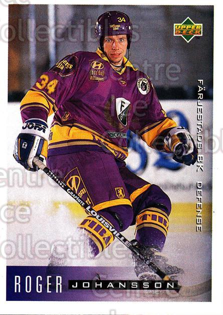 1995-96 Swedish Upper Deck #62 Roger Johansson<br/>11 In Stock - $2.00 each - <a href=https://centericecollectibles.foxycart.com/cart?name=1995-96%20Swedish%20Upper%20Deck%20%2362%20Roger%20Johansson...&quantity_max=11&price=$2.00&code=46035 class=foxycart> Buy it now! </a>