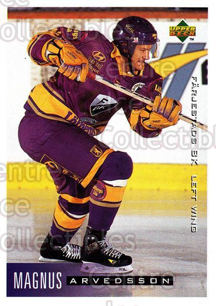 1995-96 Swedish Upper Deck #67 Magnus Arvedson<br/>10 In Stock - $2.00 each - <a href=https://centericecollectibles.foxycart.com/cart?name=1995-96%20Swedish%20Upper%20Deck%20%2367%20Magnus%20Arvedson...&quantity_max=10&price=$2.00&code=46038 class=foxycart> Buy it now! </a>