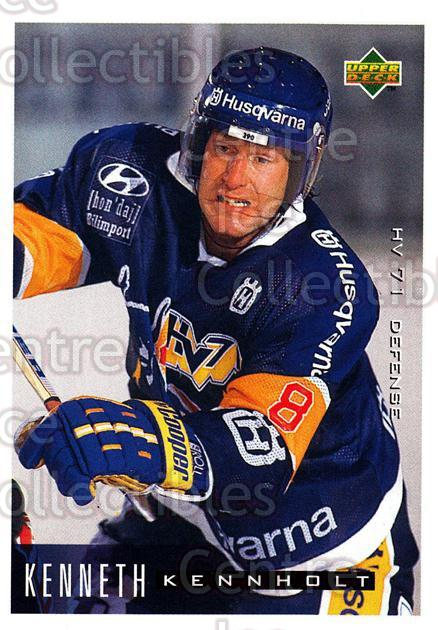 1995-96 Swedish Upper Deck #79 Kenneth Kennholt<br/>12 In Stock - $2.00 each - <a href=https://centericecollectibles.foxycart.com/cart?name=1995-96%20Swedish%20Upper%20Deck%20%2379%20Kenneth%20Kennhol...&price=$2.00&code=46044 class=foxycart> Buy it now! </a>