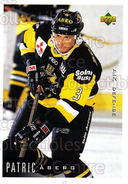 1995-96 Swedish Upper Deck #8 Patric Aberg<br/>10 In Stock - $2.00 each - <a href=https://centericecollectibles.foxycart.com/cart?name=1995-96%20Swedish%20Upper%20Deck%20%238%20Patric%20Aberg...&quantity_max=10&price=$2.00&code=46045 class=foxycart> Buy it now! </a>
