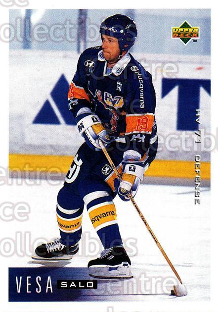 1995-96 Swedish Upper Deck #81 Vesa Salo<br/>9 In Stock - $2.00 each - <a href=https://centericecollectibles.foxycart.com/cart?name=1995-96%20Swedish%20Upper%20Deck%20%2381%20Vesa%20Salo...&price=$2.00&code=46047 class=foxycart> Buy it now! </a>