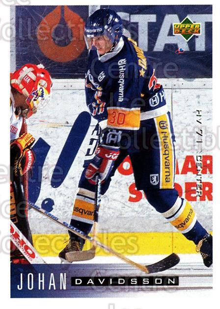 1995-96 Swedish Upper Deck #86 Johan Davidsson<br/>13 In Stock - $2.00 each - <a href=https://centericecollectibles.foxycart.com/cart?name=1995-96%20Swedish%20Upper%20Deck%20%2386%20Johan%20Davidsson...&price=$2.00&code=46049 class=foxycart> Buy it now! </a>