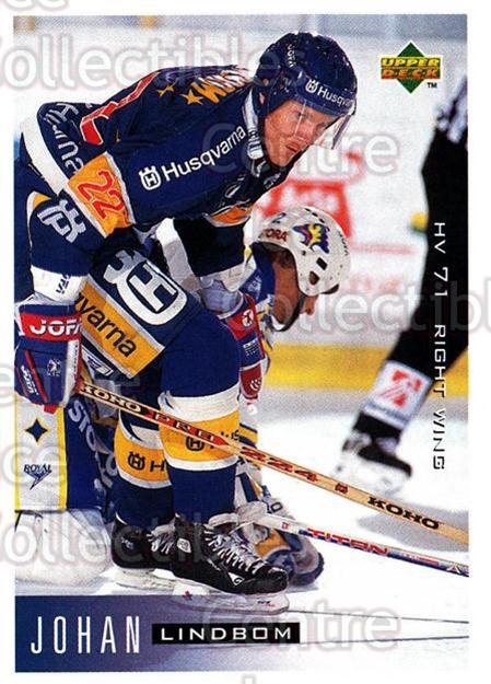 1995-96 Swedish Upper Deck #88 Johan Lindbom<br/>12 In Stock - $2.00 each - <a href=https://centericecollectibles.foxycart.com/cart?name=1995-96%20Swedish%20Upper%20Deck%20%2388%20Johan%20Lindbom...&price=$2.00&code=46050 class=foxycart> Buy it now! </a>