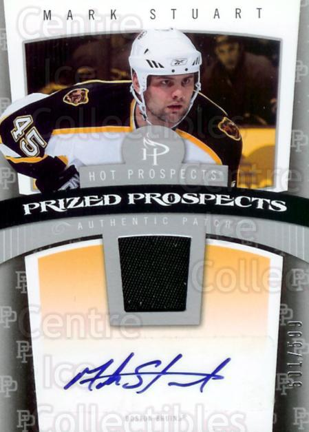 2006-07 Hot Prospects #104 Mark Stuart<br/>1 In Stock - $5.00 each - <a href=https://centericecollectibles.foxycart.com/cart?name=2006-07%20Hot%20Prospects%20%23104%20Mark%20Stuart...&quantity_max=1&price=$5.00&code=461212 class=foxycart> Buy it now! </a>