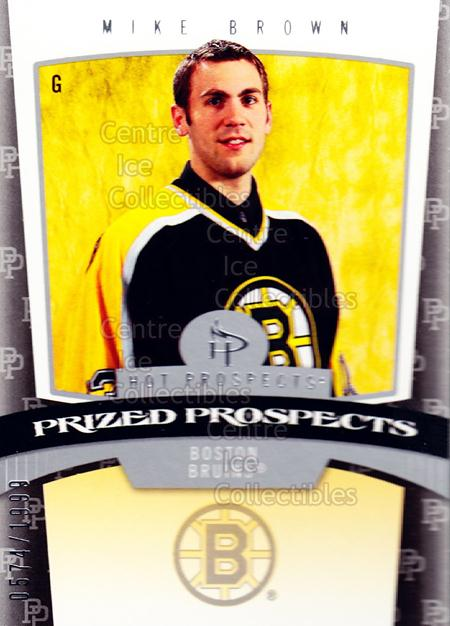 2006-07 Hot Prospects #144 Mike Brown<br/>2 In Stock - $3.00 each - <a href=https://centericecollectibles.foxycart.com/cart?name=2006-07%20Hot%20Prospects%20%23144%20Mike%20Brown...&quantity_max=2&price=$3.00&code=461255 class=foxycart> Buy it now! </a>