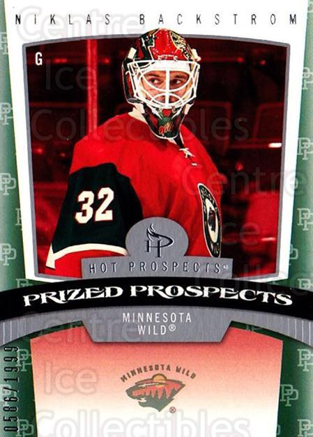2006-07 Hot Prospects #164 Niklas Backstrom<br/>1 In Stock - $5.00 each - <a href=https://centericecollectibles.foxycart.com/cart?name=2006-07%20Hot%20Prospects%20%23164%20Niklas%20Backstro...&quantity_max=1&price=$5.00&code=461257 class=foxycart> Buy it now! </a>