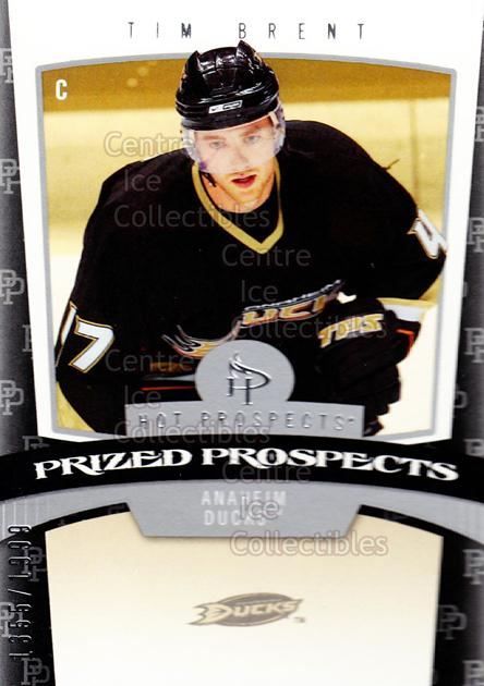 2006-07 Hot Prospects #190 Tim Brent<br/>1 In Stock - $3.00 each - <a href=https://centericecollectibles.foxycart.com/cart?name=2006-07%20Hot%20Prospects%20%23190%20Tim%20Brent...&quantity_max=1&price=$3.00&code=461262 class=foxycart> Buy it now! </a>