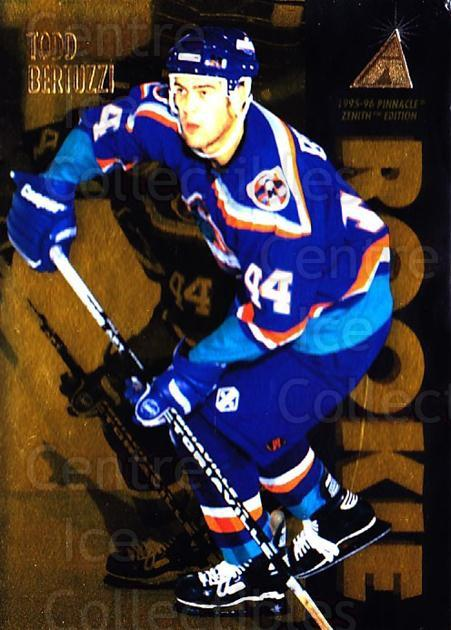 1995-96 Zenith #140 Todd Bertuzzi<br/>24 In Stock - $3.00 each - <a href=https://centericecollectibles.foxycart.com/cart?name=1995-96%20Zenith%20%23140%20Todd%20Bertuzzi...&quantity_max=24&price=$3.00&code=46126 class=foxycart> Buy it now! </a>