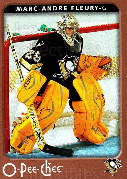 2006-07 O-Pee-Chee #390 Marc-Andre Fleury<br/>5 In Stock - $2.00 each - <a href=https://centericecollectibles.foxycart.com/cart?name=2006-07%20O-Pee-Chee%20%23390%20Marc-Andre%20Fleu...&quantity_max=5&price=$2.00&code=461273 class=foxycart> Buy it now! </a>