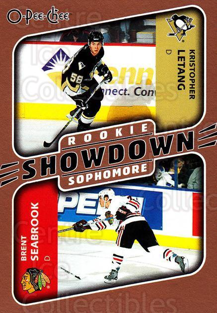 2006-07 O-Pee-Chee #645 Brent Seabrook, Kristopher Letang<br/>1 In Stock - $2.00 each - <a href=https://centericecollectibles.foxycart.com/cart?name=2006-07%20O-Pee-Chee%20%23645%20Brent%20Seabrook,...&quantity_max=1&price=$2.00&code=461423 class=foxycart> Buy it now! </a>