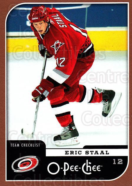 2006-07 O-Pee-Chee #676 Eric Staal, Checklist<br/>1 In Stock - $2.00 each - <a href=https://centericecollectibles.foxycart.com/cart?name=2006-07%20O-Pee-Chee%20%23676%20Eric%20Staal,%20Che...&quantity_max=1&price=$2.00&code=461454 class=foxycart> Buy it now! </a>