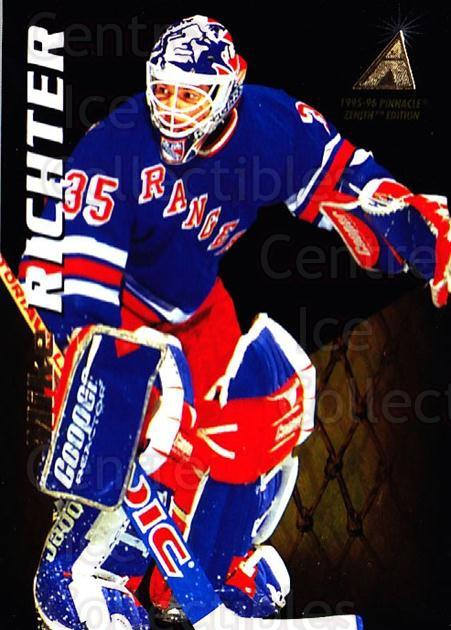 1995-96 Zenith #53 Mike Richter<br/>4 In Stock - $1.00 each - <a href=https://centericecollectibles.foxycart.com/cart?name=1995-96%20Zenith%20%2353%20Mike%20Richter...&quantity_max=4&price=$1.00&code=46177 class=foxycart> Buy it now! </a>