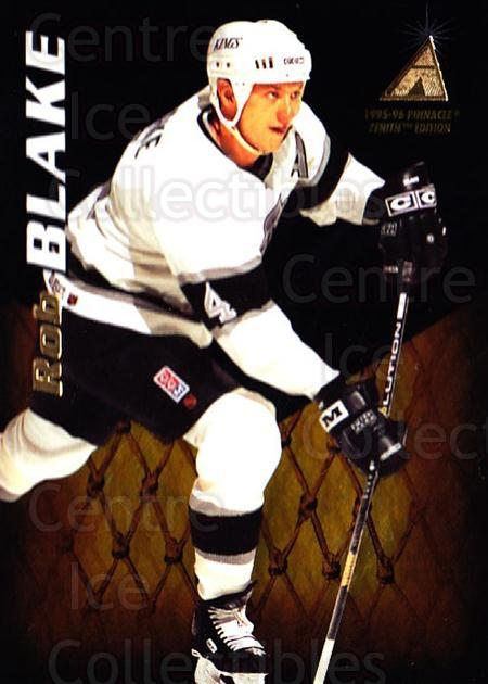 1995-96 Zenith #88 Rob Blake<br/>6 In Stock - $1.00 each - <a href=https://centericecollectibles.foxycart.com/cart?name=1995-96%20Zenith%20%2388%20Rob%20Blake...&quantity_max=6&price=$1.00&code=46211 class=foxycart> Buy it now! </a>