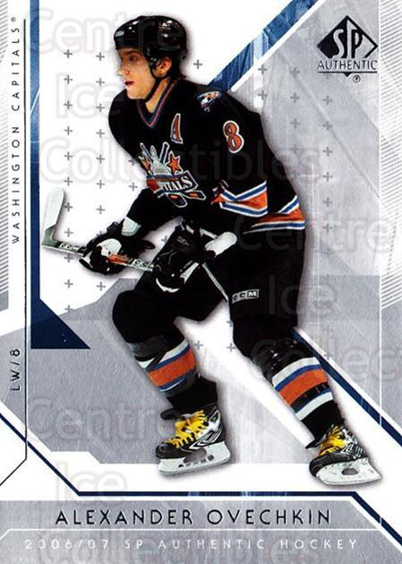 2006-07 SP Authentic #1 Alexander Ovechkin<br/>1 In Stock - $2.00 each - <a href=https://centericecollectibles.foxycart.com/cart?name=2006-07%20SP%20Authentic%20%231%20Alexander%20Ovech...&price=$2.00&code=462181 class=foxycart> Buy it now! </a>