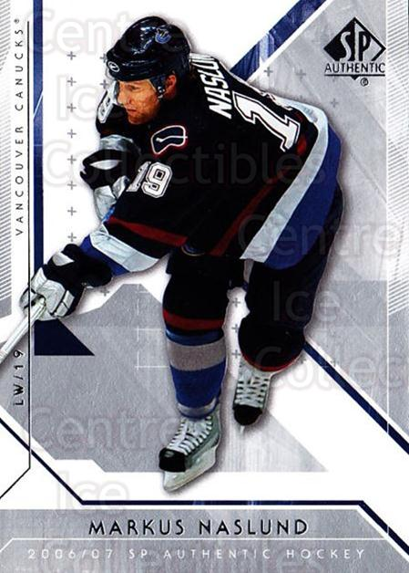 2006-07 SP Authentic #3 Markus Naslund<br/>7 In Stock - $1.00 each - <a href=https://centericecollectibles.foxycart.com/cart?name=2006-07%20SP%20Authentic%20%233%20Markus%20Naslund...&quantity_max=7&price=$1.00&code=462183 class=foxycart> Buy it now! </a>