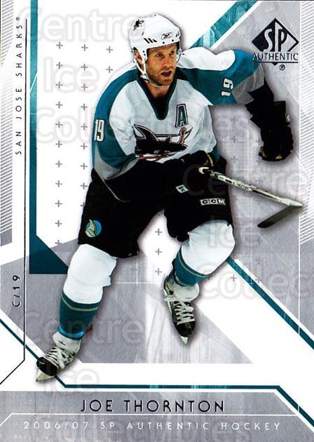 2006-07 SP Authentic #16 Joe Thornton<br/>6 In Stock - $1.00 each - <a href=https://centericecollectibles.foxycart.com/cart?name=2006-07%20SP%20Authentic%20%2316%20Joe%20Thornton...&quantity_max=6&price=$1.00&code=462196 class=foxycart> Buy it now! </a>