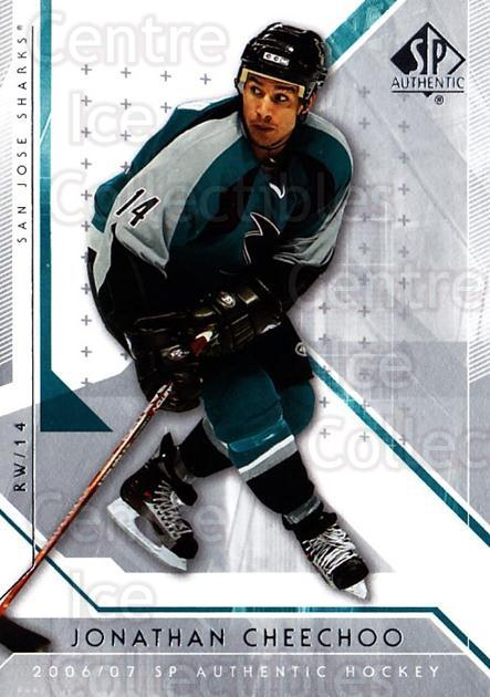 2006-07 SP Authentic #18 Jonathan Cheechoo<br/>4 In Stock - $1.00 each - <a href=https://centericecollectibles.foxycart.com/cart?name=2006-07%20SP%20Authentic%20%2318%20Jonathan%20Cheech...&quantity_max=4&price=$1.00&code=462198 class=foxycart> Buy it now! </a>