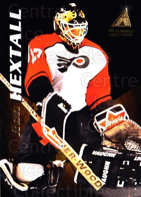 1995-96 Zenith #97 Ron Hextall<br/>4 In Stock - $1.00 each - <a href=https://centericecollectibles.foxycart.com/cart?name=1995-96%20Zenith%20%2397%20Ron%20Hextall...&quantity_max=4&price=$1.00&code=46219 class=foxycart> Buy it now! </a>