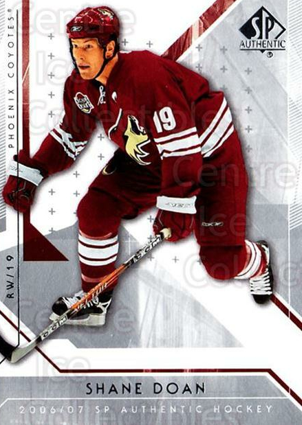 2006-07 SP Authentic #24 Shane Doan<br/>7 In Stock - $1.00 each - <a href=https://centericecollectibles.foxycart.com/cart?name=2006-07%20SP%20Authentic%20%2324%20Shane%20Doan...&quantity_max=7&price=$1.00&code=462204 class=foxycart> Buy it now! </a>