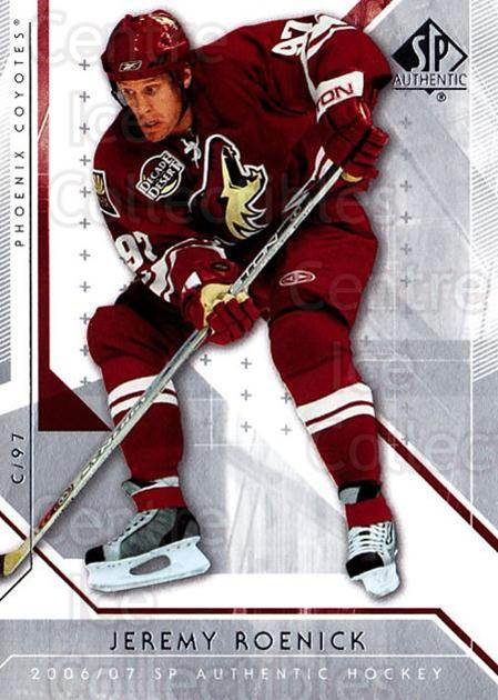 2006-07 SP Authentic #25 Jeremy Roenick<br/>6 In Stock - $1.00 each - <a href=https://centericecollectibles.foxycart.com/cart?name=2006-07%20SP%20Authentic%20%2325%20Jeremy%20Roenick...&quantity_max=6&price=$1.00&code=462205 class=foxycart> Buy it now! </a>