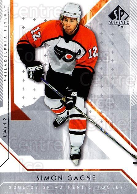 2006-07 SP Authentic #29 Simon Gagne<br/>8 In Stock - $1.00 each - <a href=https://centericecollectibles.foxycart.com/cart?name=2006-07%20SP%20Authentic%20%2329%20Simon%20Gagne...&quantity_max=8&price=$1.00&code=462209 class=foxycart> Buy it now! </a>