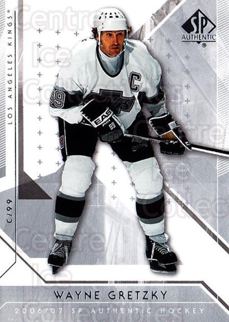 2006-07 SP Authentic #55 Wayne Gretzky<br/>4 In Stock - $3.00 each - <a href=https://centericecollectibles.foxycart.com/cart?name=2006-07%20SP%20Authentic%20%2355%20Wayne%20Gretzky...&quantity_max=4&price=$3.00&code=462235 class=foxycart> Buy it now! </a>
