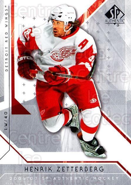 2006-07 SP Authentic #65 Henrik Zetterberg<br/>4 In Stock - $2.00 each - <a href=https://centericecollectibles.foxycart.com/cart?name=2006-07%20SP%20Authentic%20%2365%20Henrik%20Zetterbe...&quantity_max=4&price=$2.00&code=462245 class=foxycart> Buy it now! </a>