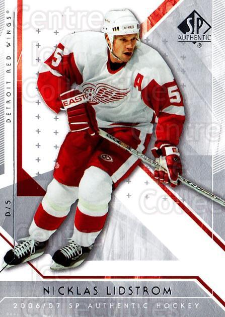 2006-07 SP Authentic #68 Nicklas Lidstrom<br/>5 In Stock - $1.00 each - <a href=https://centericecollectibles.foxycart.com/cart?name=2006-07%20SP%20Authentic%20%2368%20Nicklas%20Lidstro...&quantity_max=5&price=$1.00&code=462248 class=foxycart> Buy it now! </a>