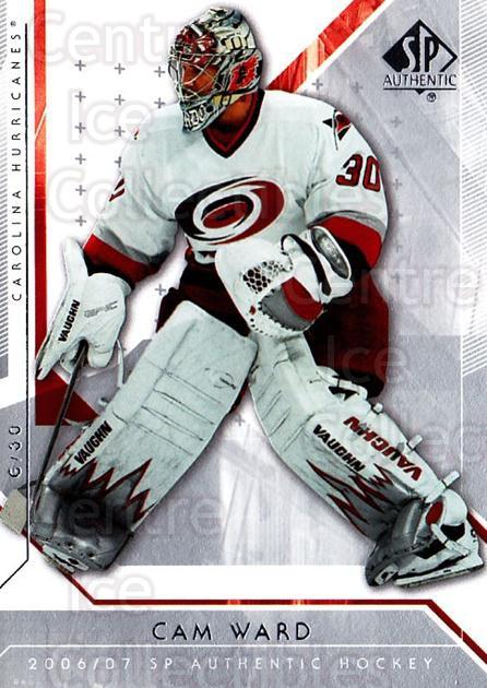 2006-07 SP Authentic #83 Cam Ward<br/>8 In Stock - $1.00 each - <a href=https://centericecollectibles.foxycart.com/cart?name=2006-07%20SP%20Authentic%20%2383%20Cam%20Ward...&quantity_max=8&price=$1.00&code=462263 class=foxycart> Buy it now! </a>