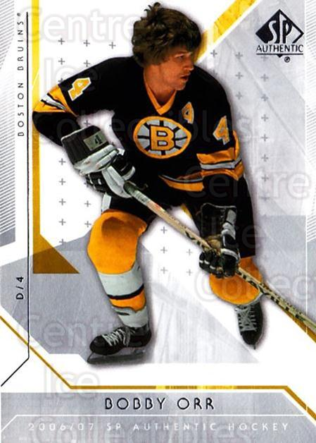 2006-07 SP Authentic #95 Bobby Orr<br/>4 In Stock - $3.00 each - <a href=https://centericecollectibles.foxycart.com/cart?name=2006-07%20SP%20Authentic%20%2395%20Bobby%20Orr...&price=$3.00&code=462275 class=foxycart> Buy it now! </a>