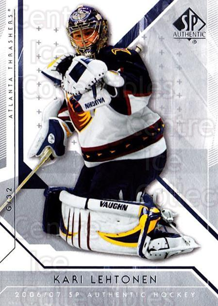 2006-07 SP Authentic #97 Kari Lehtonen<br/>4 In Stock - $1.00 each - <a href=https://centericecollectibles.foxycart.com/cart?name=2006-07%20SP%20Authentic%20%2397%20Kari%20Lehtonen...&quantity_max=4&price=$1.00&code=462277 class=foxycart> Buy it now! </a>
