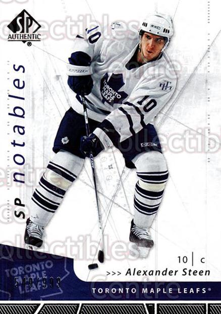 2006-07 SP Authentic #104 Alexander Steen<br/>5 In Stock - $2.00 each - <a href=https://centericecollectibles.foxycart.com/cart?name=2006-07%20SP%20Authentic%20%23104%20Alexander%20Steen...&quantity_max=5&price=$2.00&code=462284 class=foxycart> Buy it now! </a>