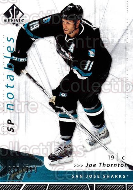 2006-07 SP Authentic #125 Joe Thornton<br/>3 In Stock - $2.00 each - <a href=https://centericecollectibles.foxycart.com/cart?name=2006-07%20SP%20Authentic%20%23125%20Joe%20Thornton...&quantity_max=3&price=$2.00&code=462305 class=foxycart> Buy it now! </a>