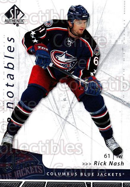 2006-07 SP Authentic #149 Rick Nash<br/>3 In Stock - $2.00 each - <a href=https://centericecollectibles.foxycart.com/cart?name=2006-07%20SP%20Authentic%20%23149%20Rick%20Nash...&quantity_max=3&price=$2.00&code=462329 class=foxycart> Buy it now! </a>