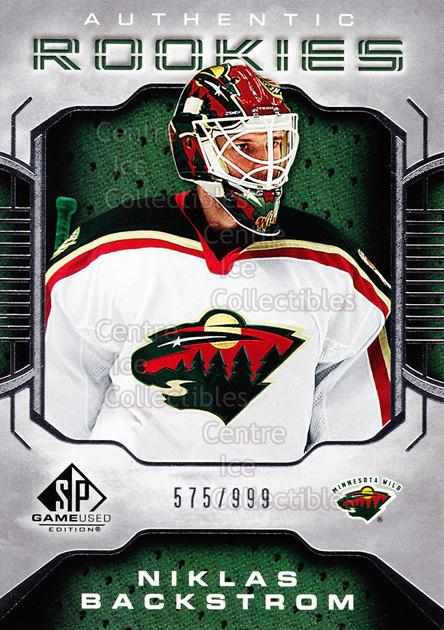 2006-07 SP Game Used #125 Niklas Backstrom<br/>2 In Stock - $5.00 each - <a href=https://centericecollectibles.foxycart.com/cart?name=2006-07%20SP%20Game%20Used%20%23125%20Niklas%20Backstro...&quantity_max=2&price=$5.00&code=462805 class=foxycart> Buy it now! </a>