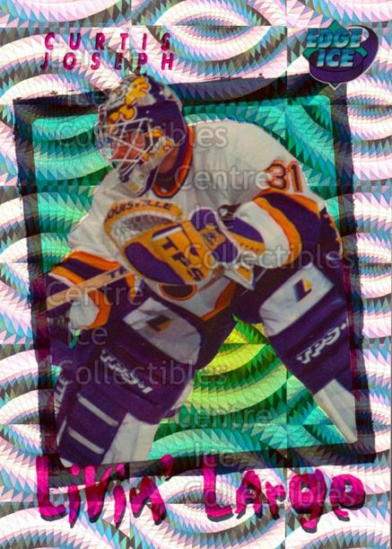 1996 Collectors Edge Ice Livin Large #6 Curtis Joseph<br/>4 In Stock - $2.00 each - <a href=https://centericecollectibles.foxycart.com/cart?name=1996%20Collectors%20Edge%20Ice%20Livin%20Large%20%236%20Curtis%20Joseph...&quantity_max=4&price=$2.00&code=46296 class=foxycart> Buy it now! </a>