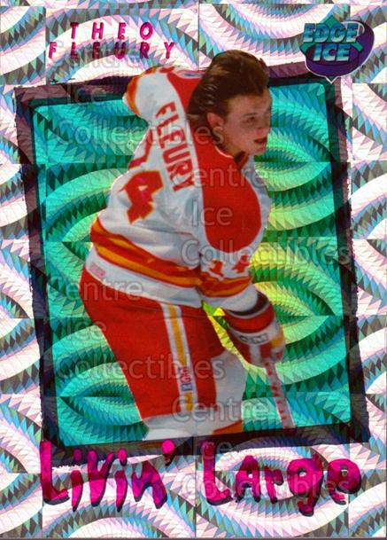 1996 Collectors Edge Ice Livin Large #9 Theo Fleury<br/>1 In Stock - $2.00 each - <a href=https://centericecollectibles.foxycart.com/cart?name=1996%20Collectors%20Edge%20Ice%20Livin%20Large%20%239%20Theo%20Fleury...&quantity_max=1&price=$2.00&code=46299 class=foxycart> Buy it now! </a>