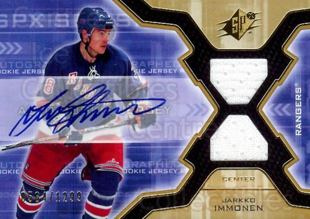 2006-07 SPx #175 Jarkko Immonen<br/>1 In Stock - $5.00 each - <a href=https://centericecollectibles.foxycart.com/cart?name=2006-07%20SPx%20%23175%20Jarkko%20Immonen...&quantity_max=1&price=$5.00&code=463235 class=foxycart> Buy it now! </a>