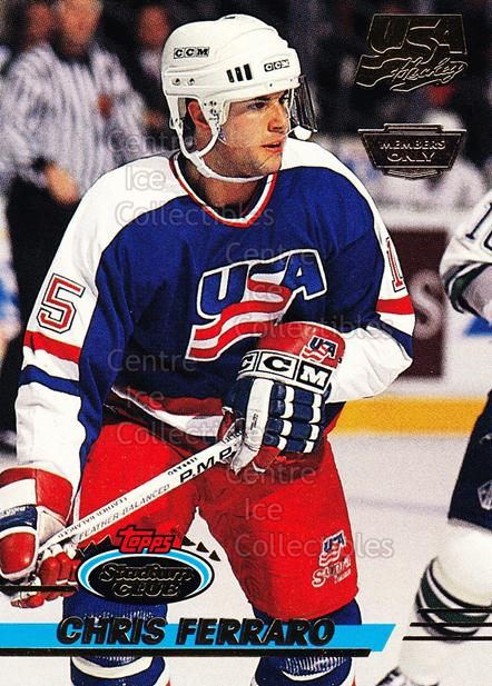 1993-94 Stadium Club Team USA Members Only #5 Chris Ferraro<br/>1 In Stock - $3.00 each - <a href=https://centericecollectibles.foxycart.com/cart?name=1993-94%20Stadium%20Club%20Team%20USA%20Members%20Only%20%235%20Chris%20Ferraro...&quantity_max=1&price=$3.00&code=4636 class=foxycart> Buy it now! </a>